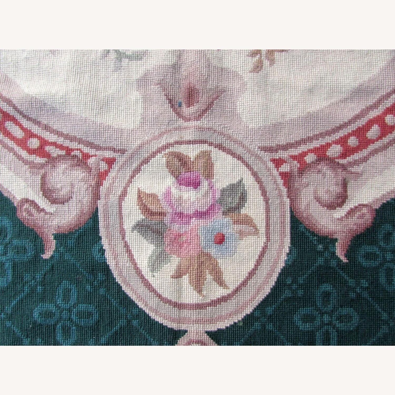 Handmade vintage French Aubusson rug - image-11