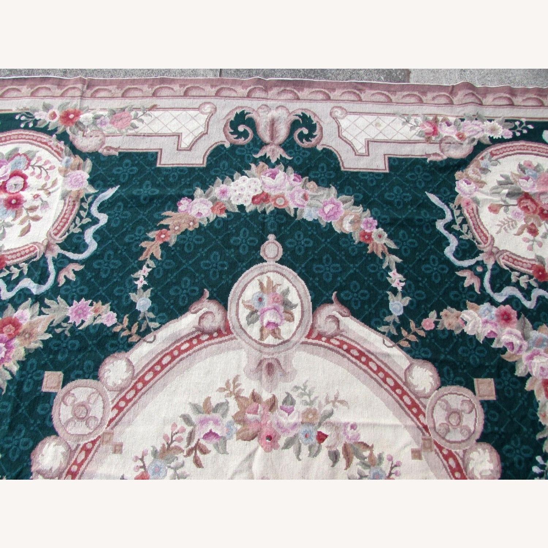 Handmade vintage French Aubusson rug - image-3