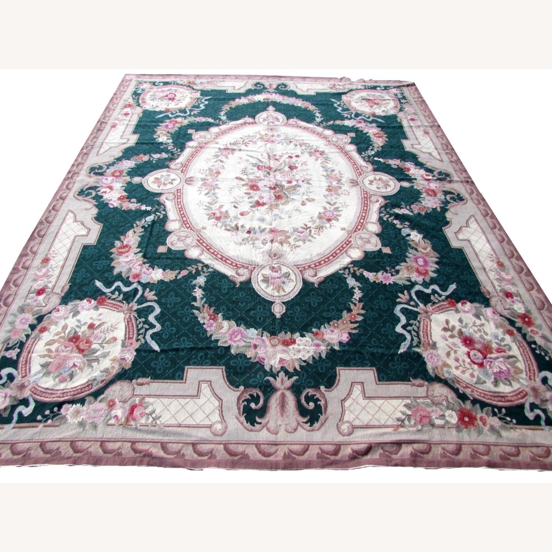 Handmade vintage French Aubusson rug - image-4