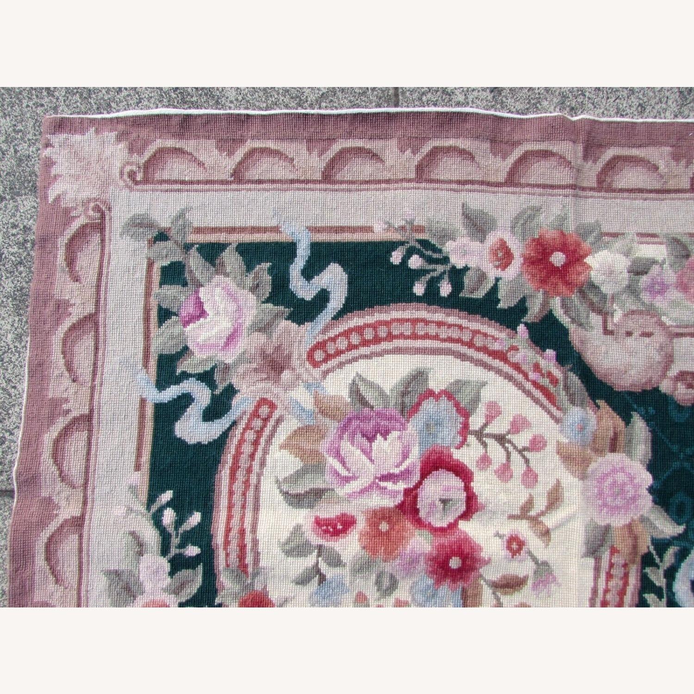Handmade vintage French Aubusson rug - image-7