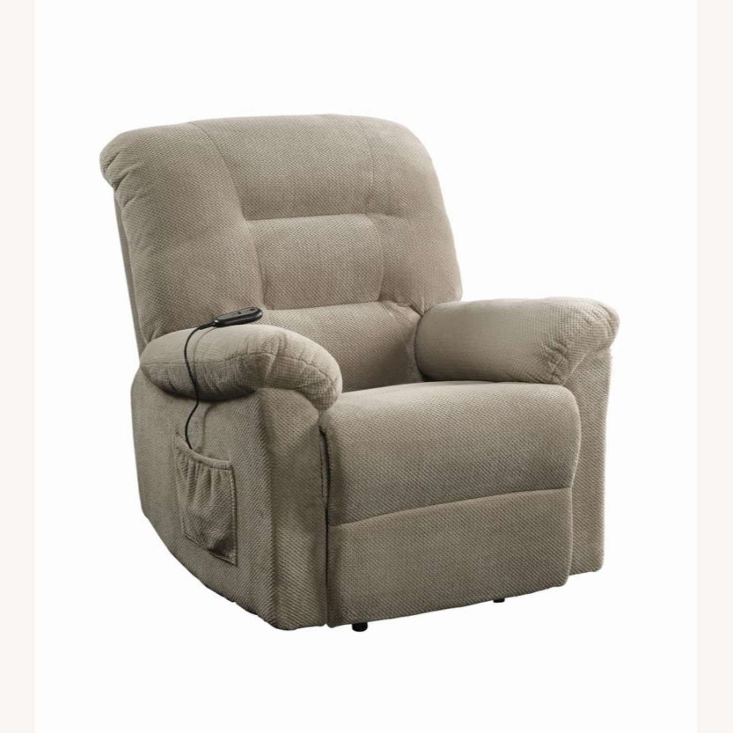 Power Lift Recliner In Beige Chenille Fabric - image-0