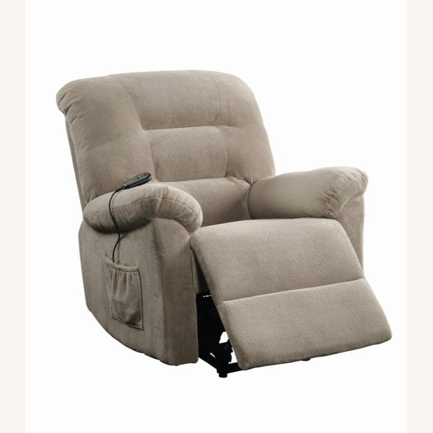 Power Lift Recliner In Beige Chenille Fabric - image-1