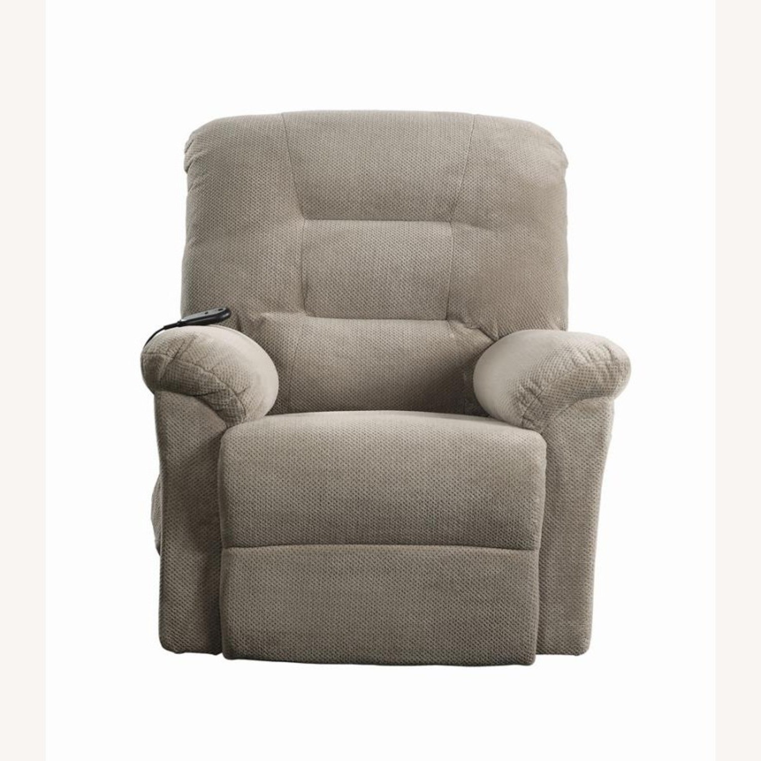Power Lift Recliner In Beige Chenille Fabric - image-3