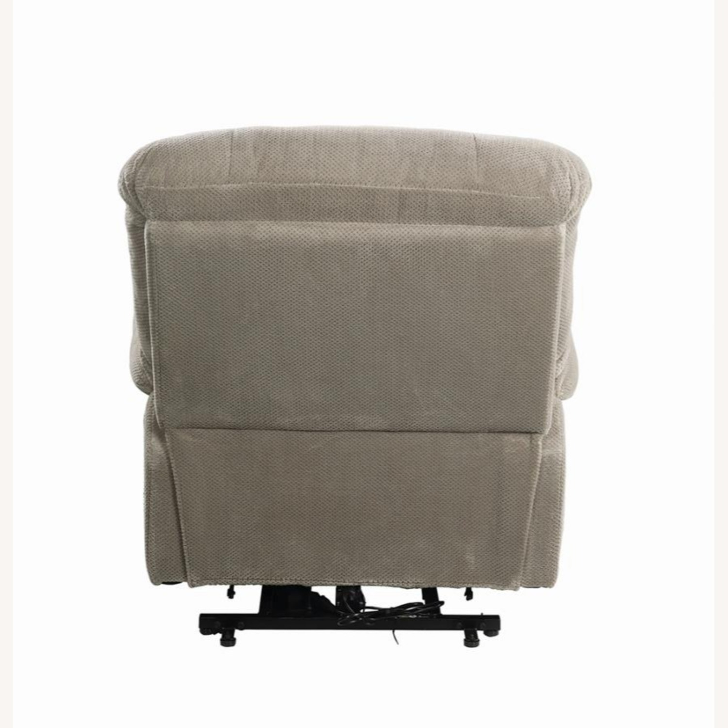 Power Lift Recliner In Beige Chenille Fabric - image-4