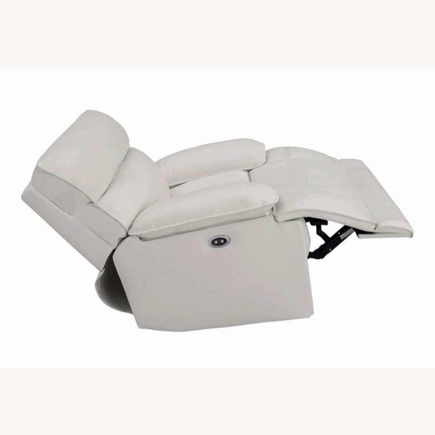 Power Glider Recliner Upholstered In White Leather - image-4