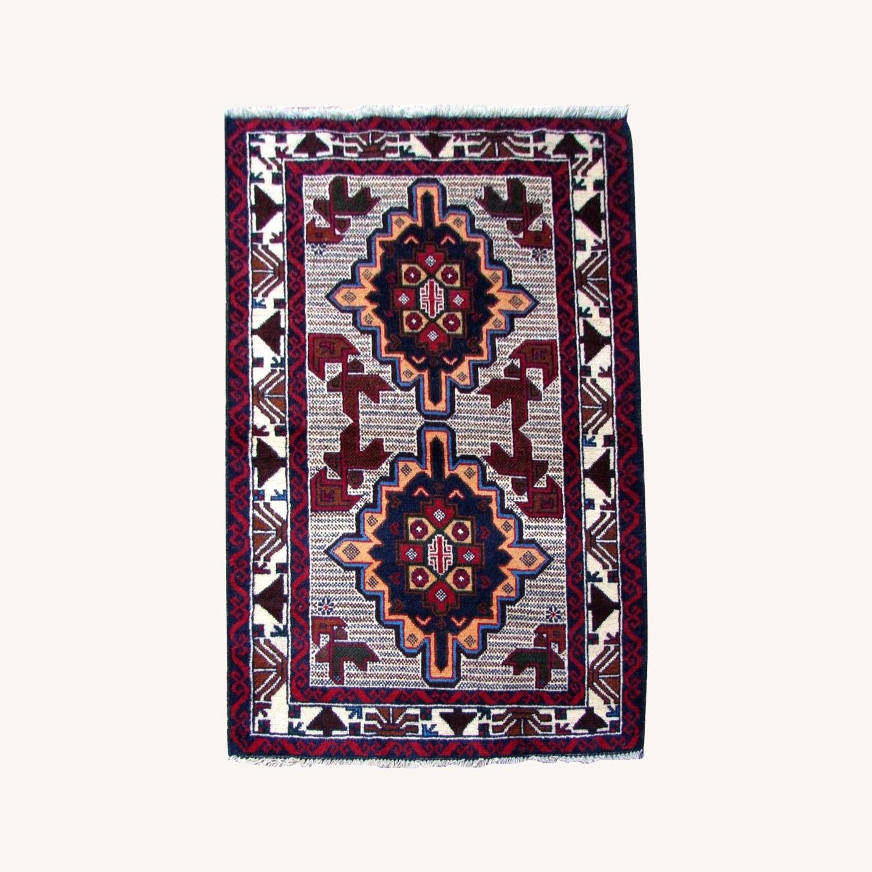 Handmade vintage Afghan Baluch rug - image-0