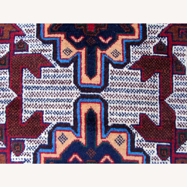 Handmade vintage Afghan Baluch rug - image-9