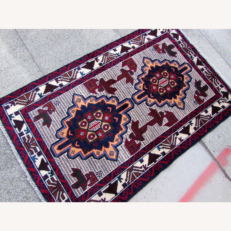 Handmade vintage Afghan Baluch rug - image-4