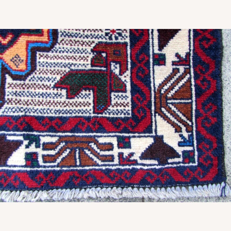 Handmade vintage Afghan Baluch rug - image-3