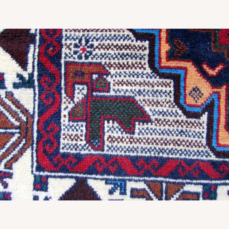 Handmade vintage Afghan Baluch rug - image-2