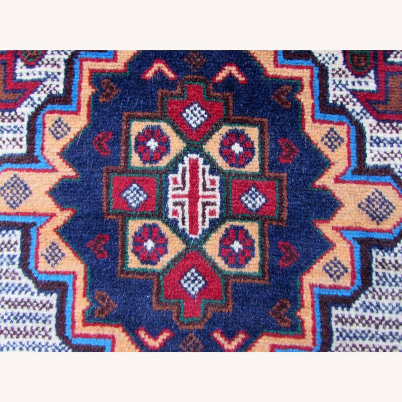 Handmade vintage Afghan Baluch rug - image-1