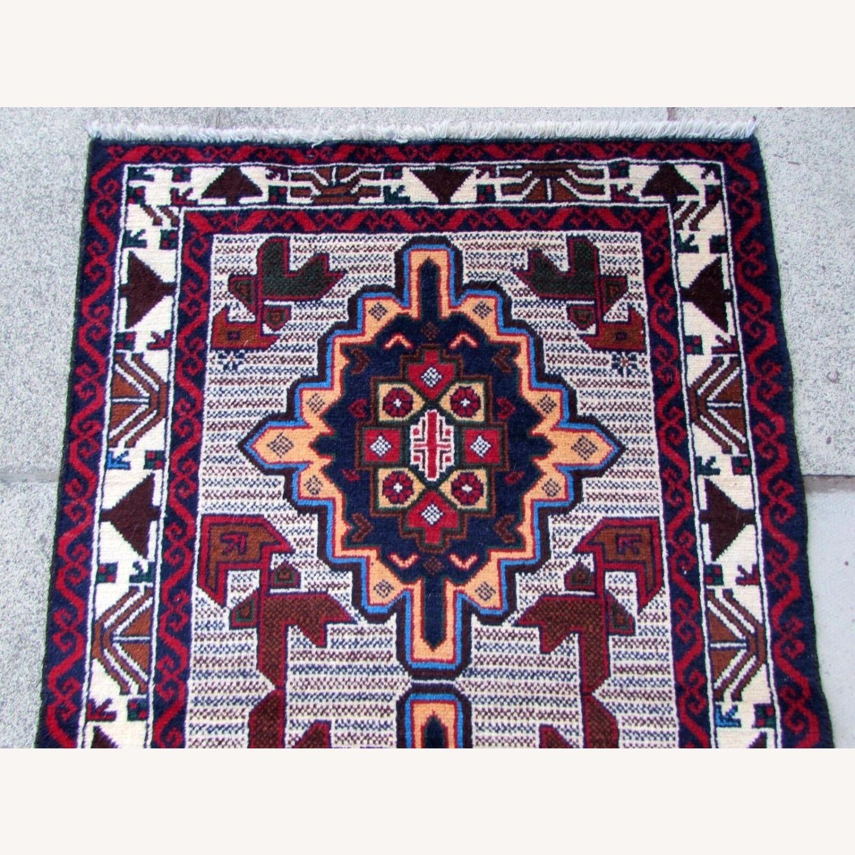 Handmade vintage Afghan Baluch rug - image-5