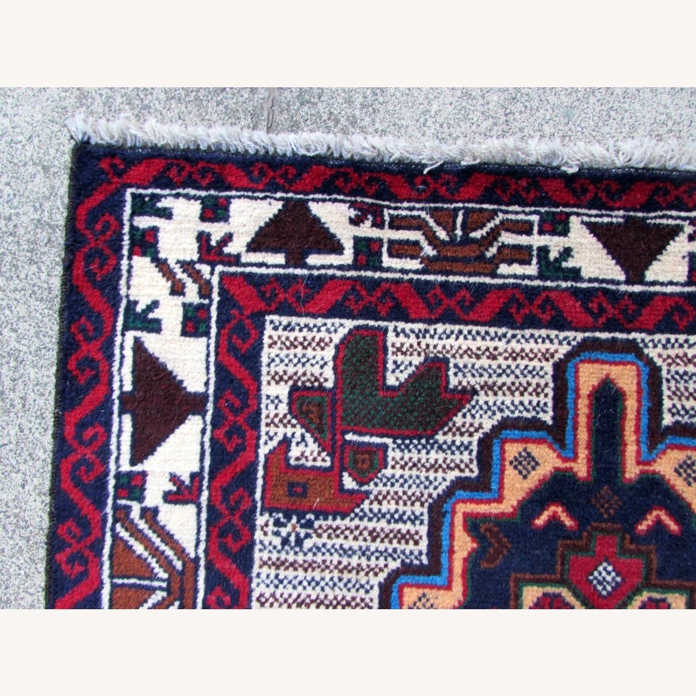Handmade vintage Afghan Baluch rug - image-7