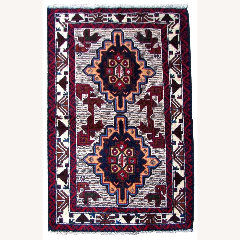 Handmade vintage Afghan Baluch rug - image-11