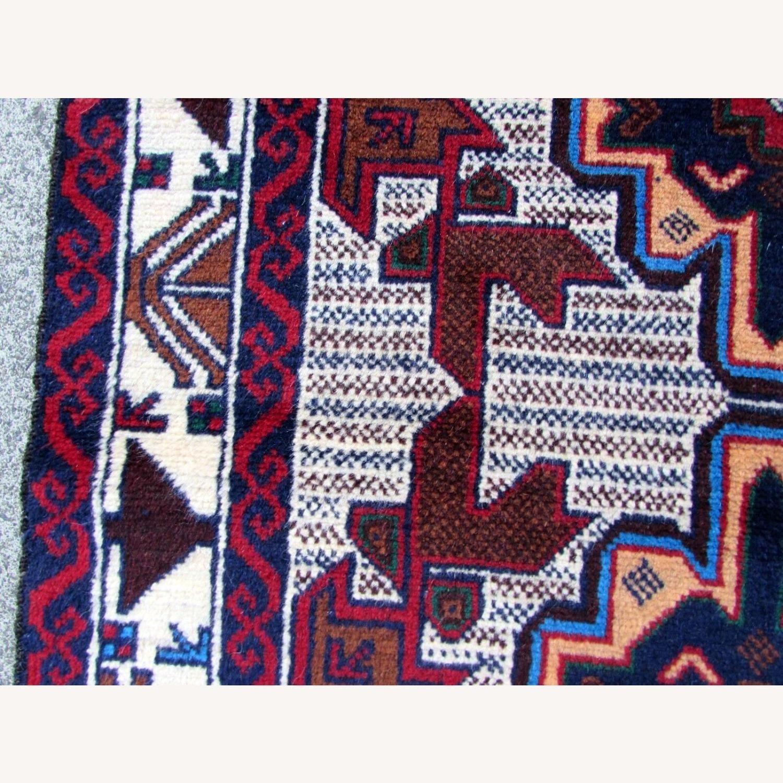 Handmade vintage Afghan Baluch rug - image-10