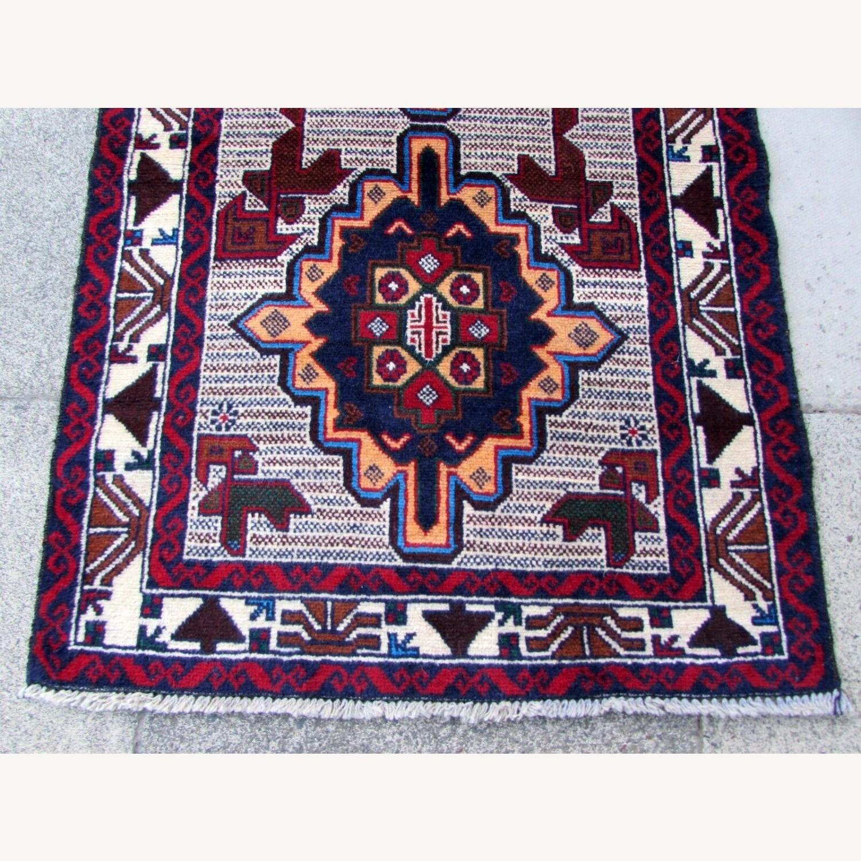 Handmade vintage Afghan Baluch rug - image-6