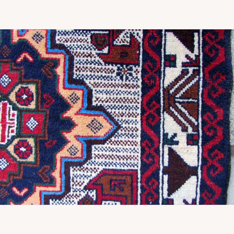 Handmade vintage Afghan Baluch rug - image-8