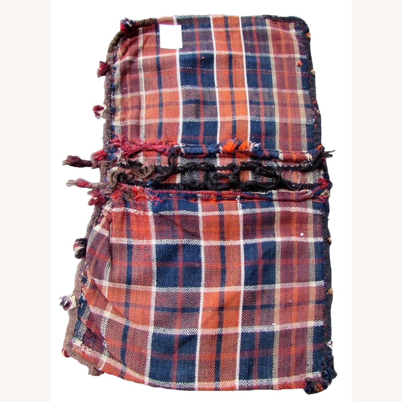 Handmade vintage Persian Ardabil kilim bag - image-7