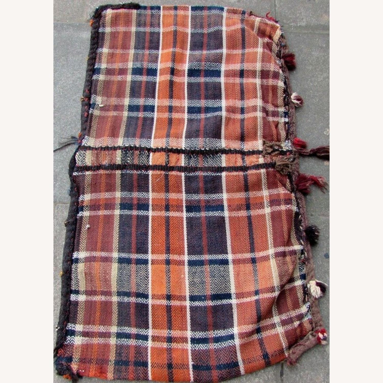 Handmade vintage Persian Ardabil kilim bag - image-4