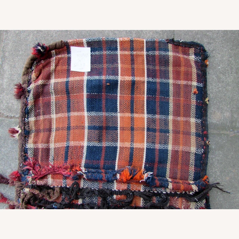 Handmade vintage Persian Ardabil kilim bag - image-8