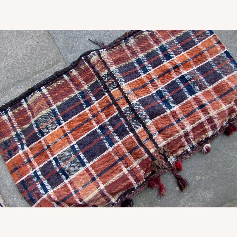 Handmade vintage Persian Ardabil kilim bag - image-5