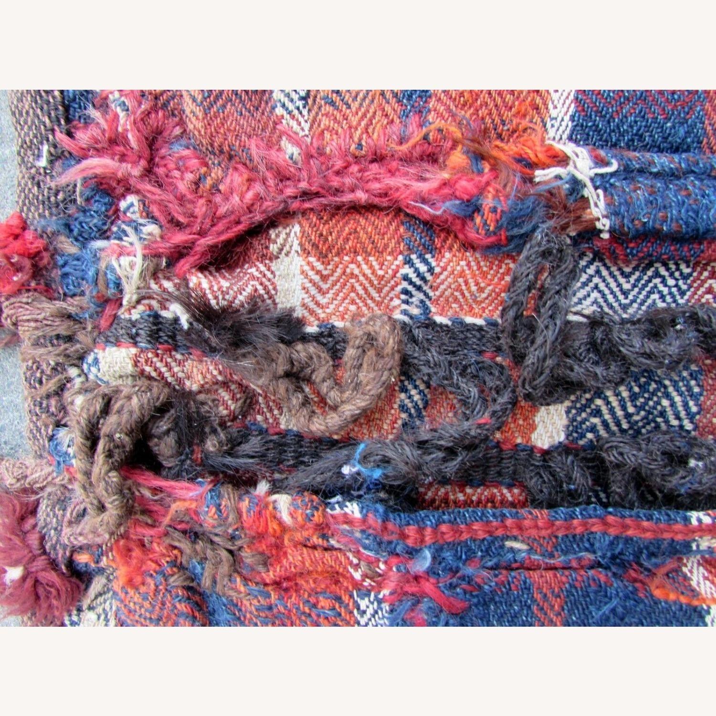 Handmade vintage Persian Ardabil kilim bag - image-11