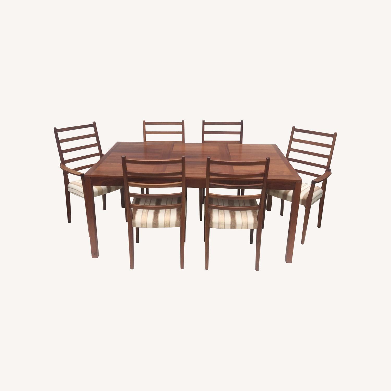 Mid-Century Rosewood Dining Room Set - image-0