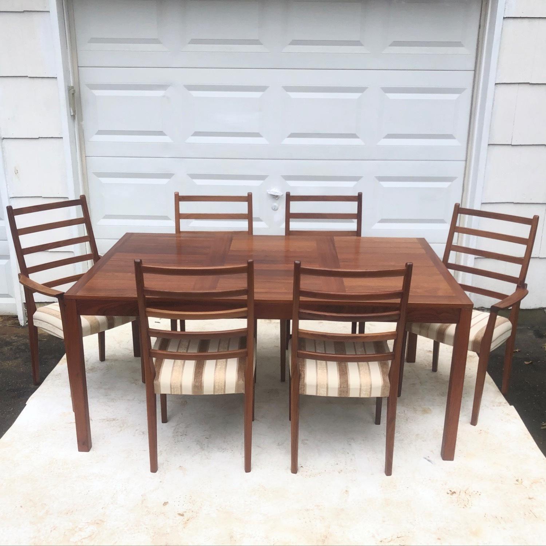 Mid-Century Rosewood Dining Room Set - image-1