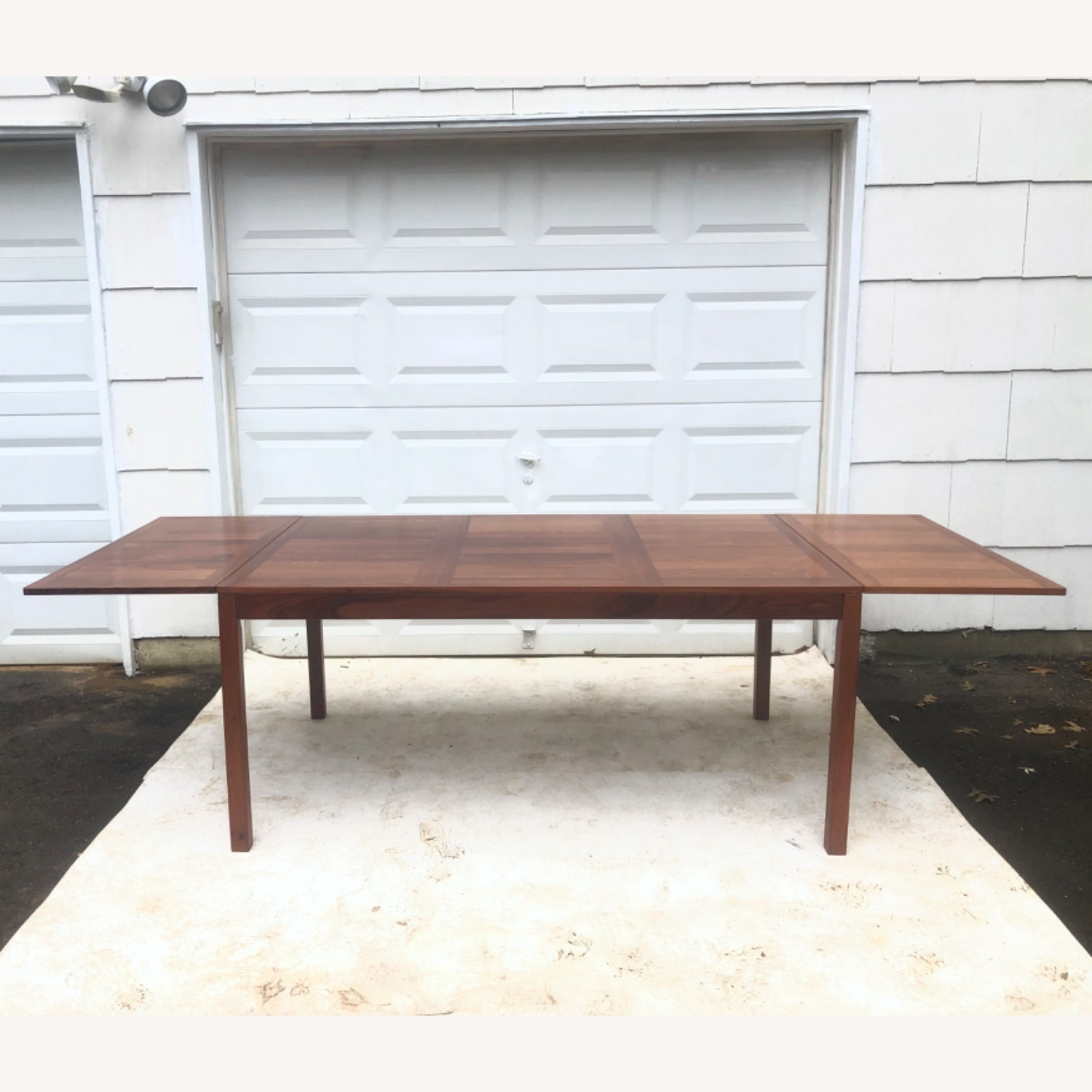 Mid-Century Rosewood Dining Table With Leaves - image-1