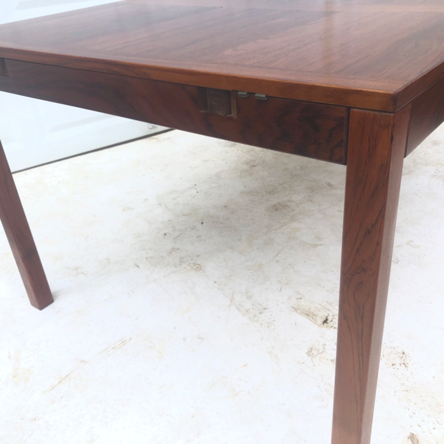 Mid-Century Rosewood Dining Table With Leaves - image-19