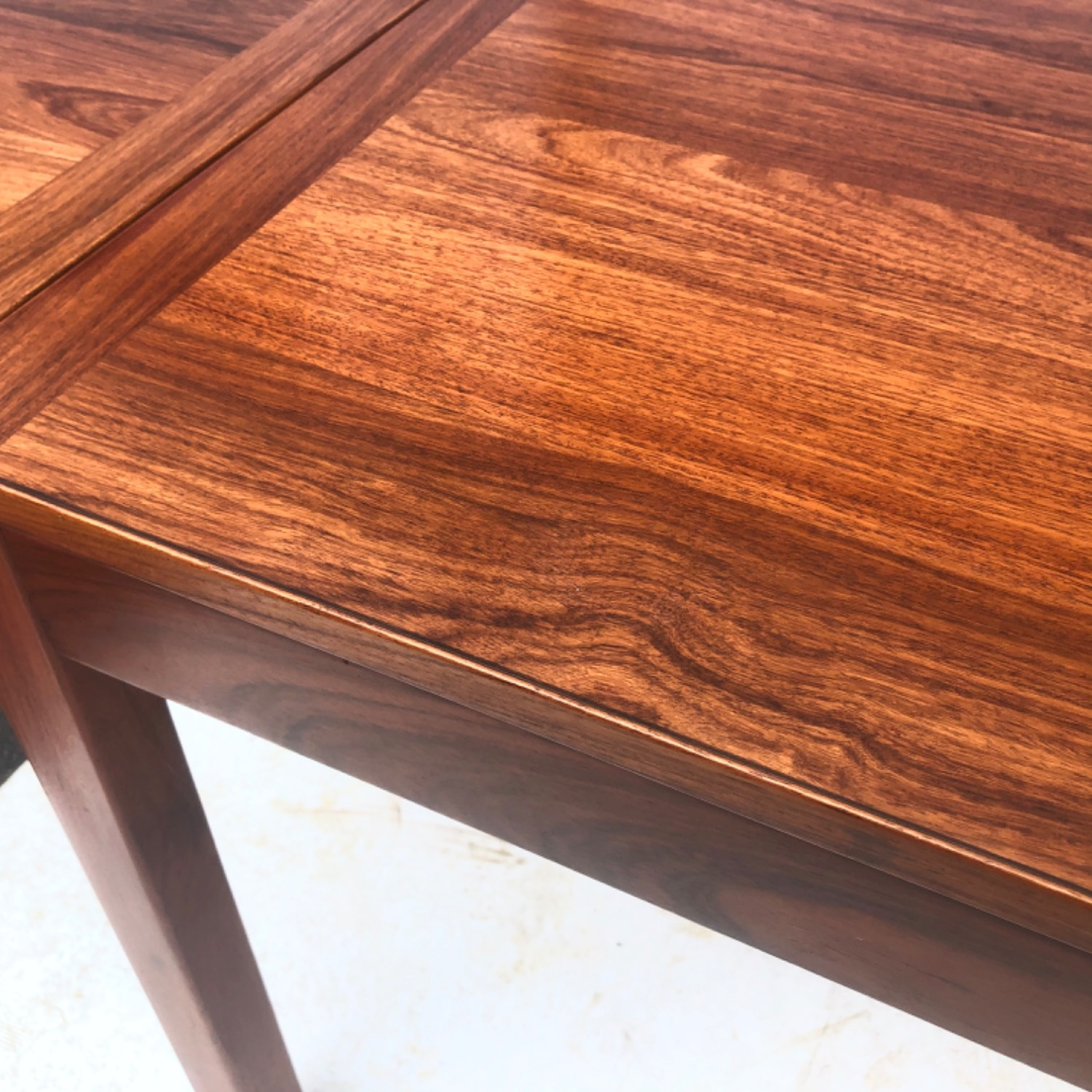 Mid-Century Rosewood Dining Table With Leaves - image-9