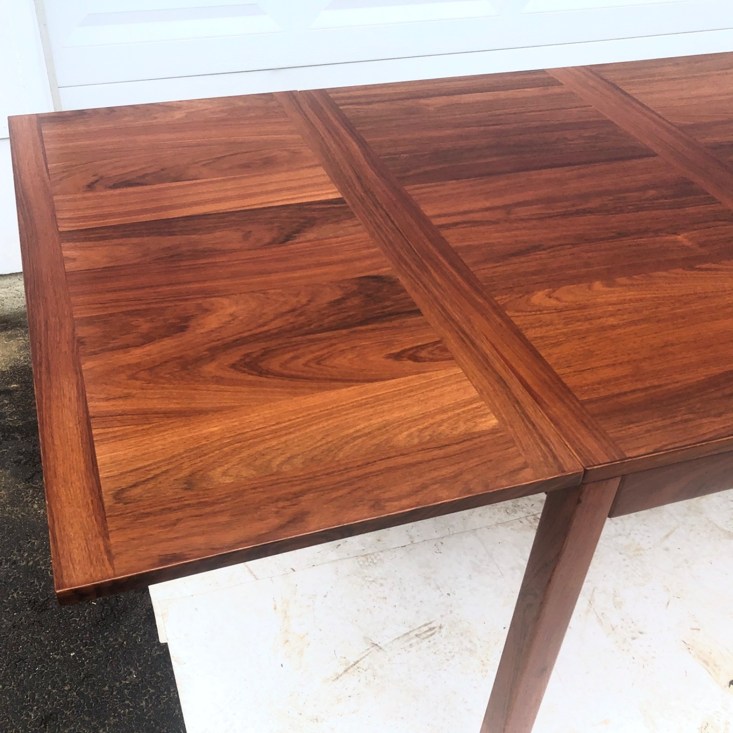 Mid-Century Rosewood Dining Table With Leaves - image-12