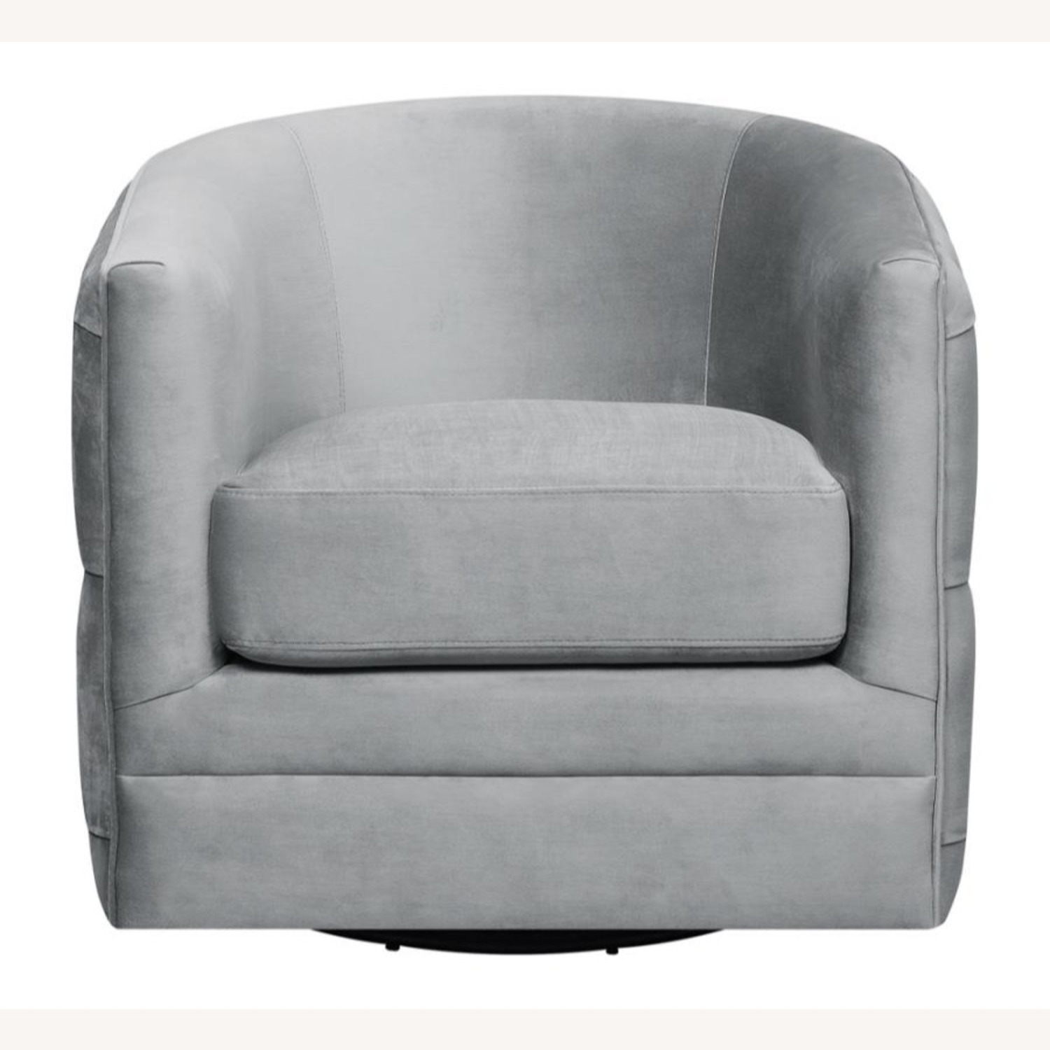 Accent Chair In Grey Velvet W/ Tufted Rhinestone - image-1