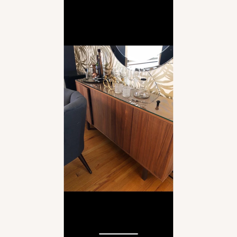 IKEA Stockholm Sideboard Walnut w Glass Top - image-3