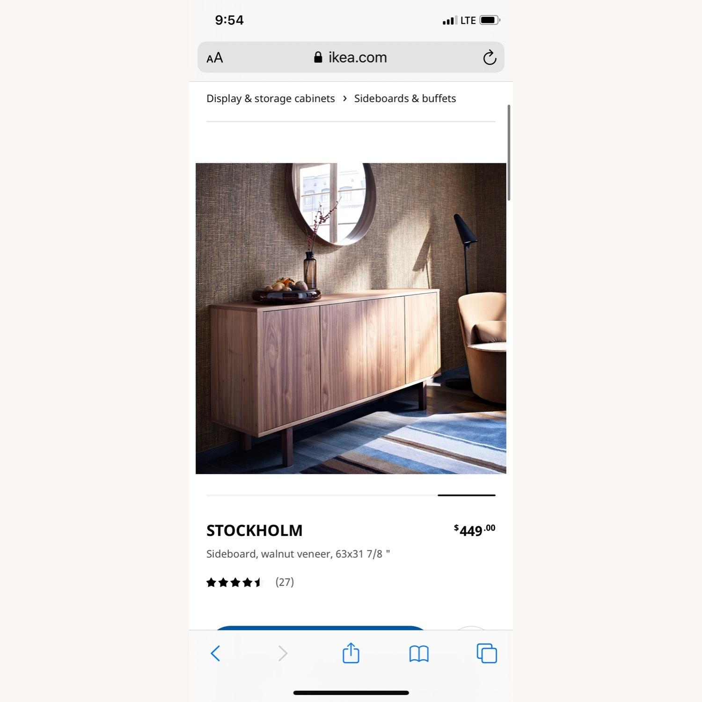 IKEA Stockholm Sideboard Walnut w Glass Top - image-1