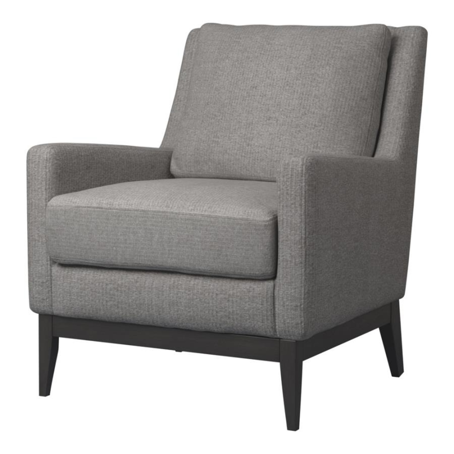 Accent Chair In Linen-Like Warm Grey Fabric Finish - image-0