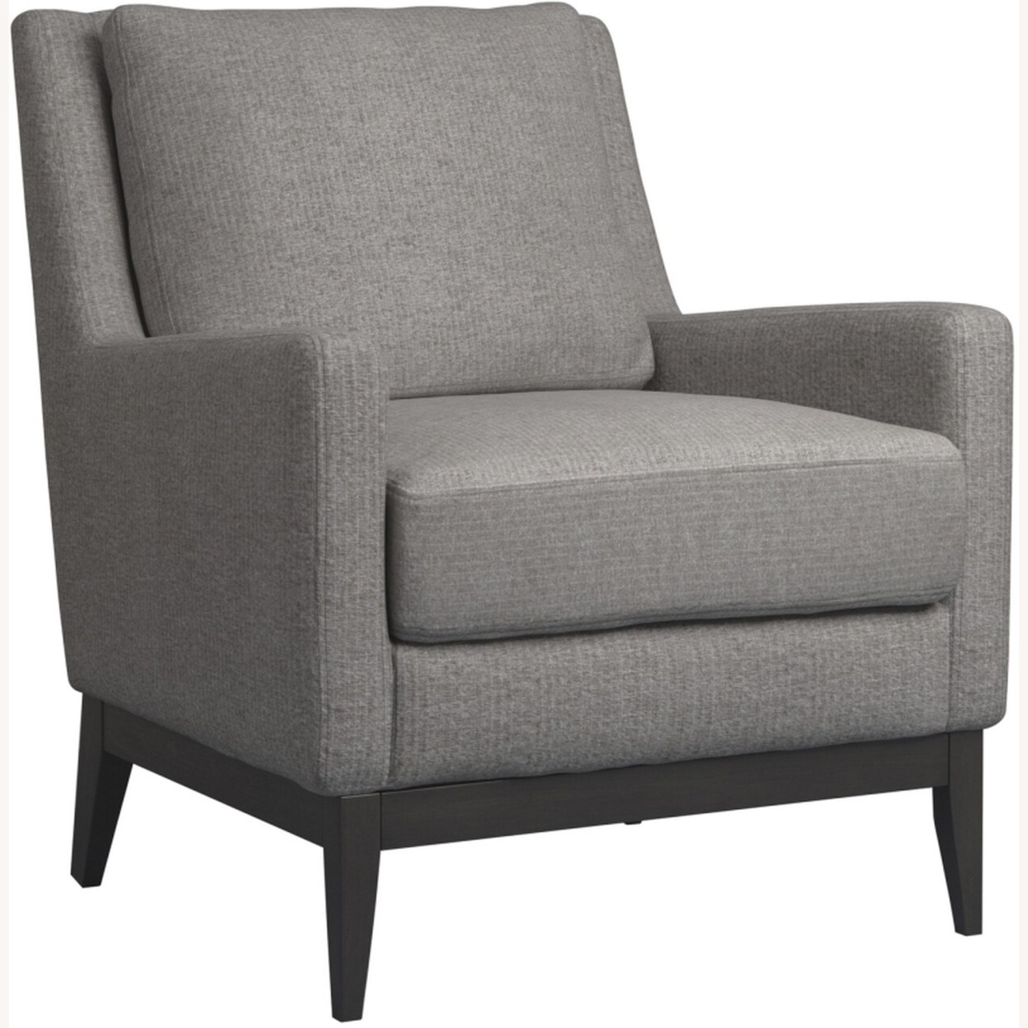 Accent Chair In Linen-Like Warm Grey Fabric Finish - image-1