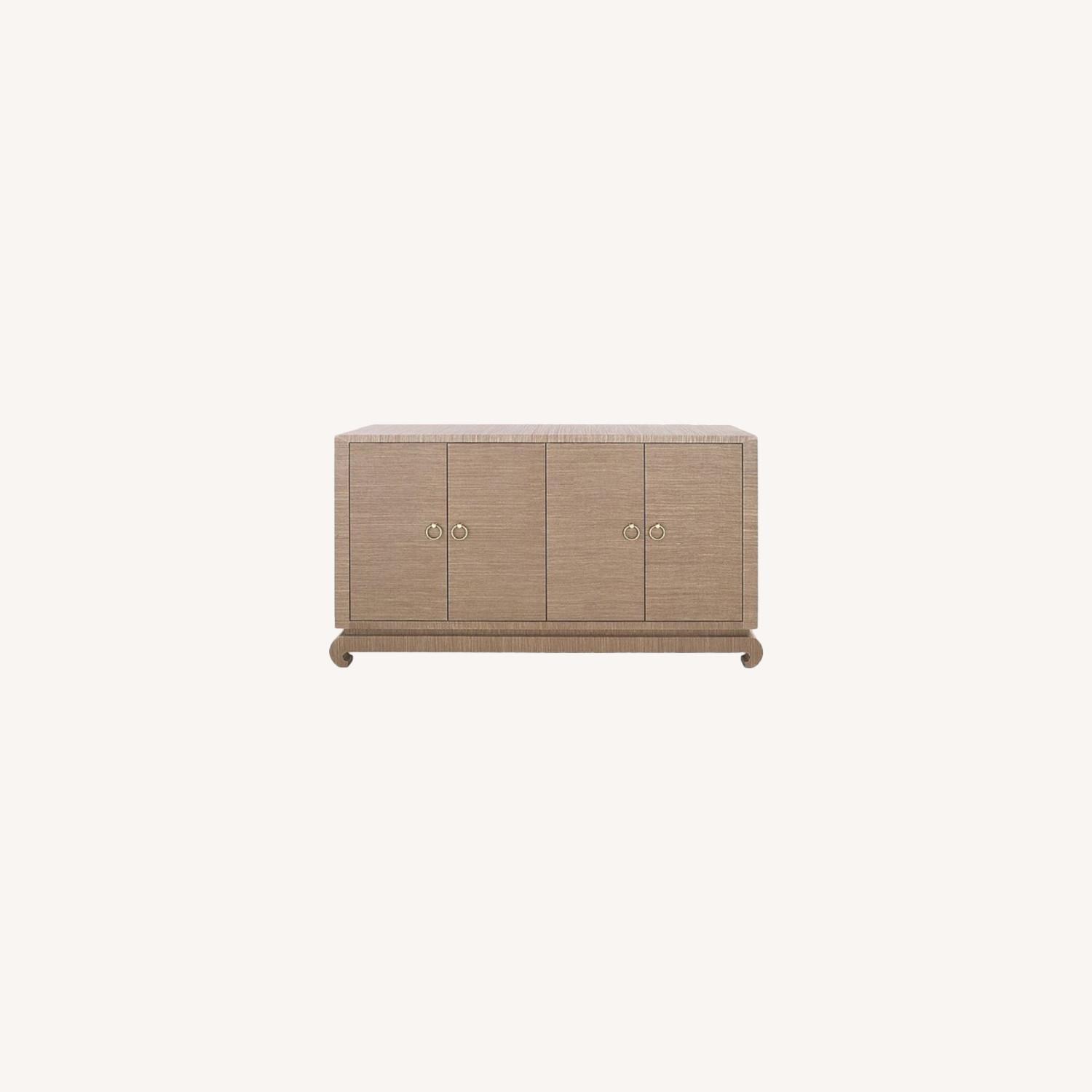 Bungalow 5 Meredith Grasscloth Media Storage - image-0