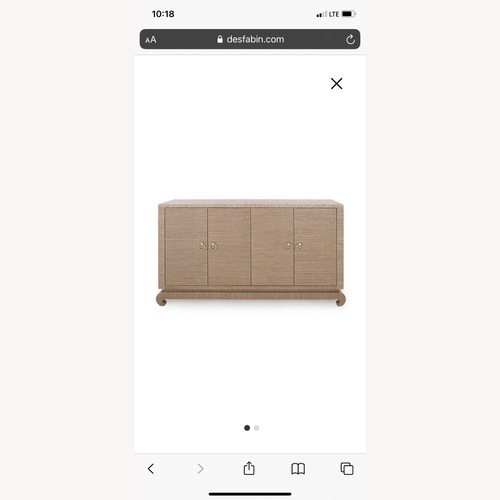 Used Bungalow 5 Meredith Grasscloth Media Storage for sale on AptDeco