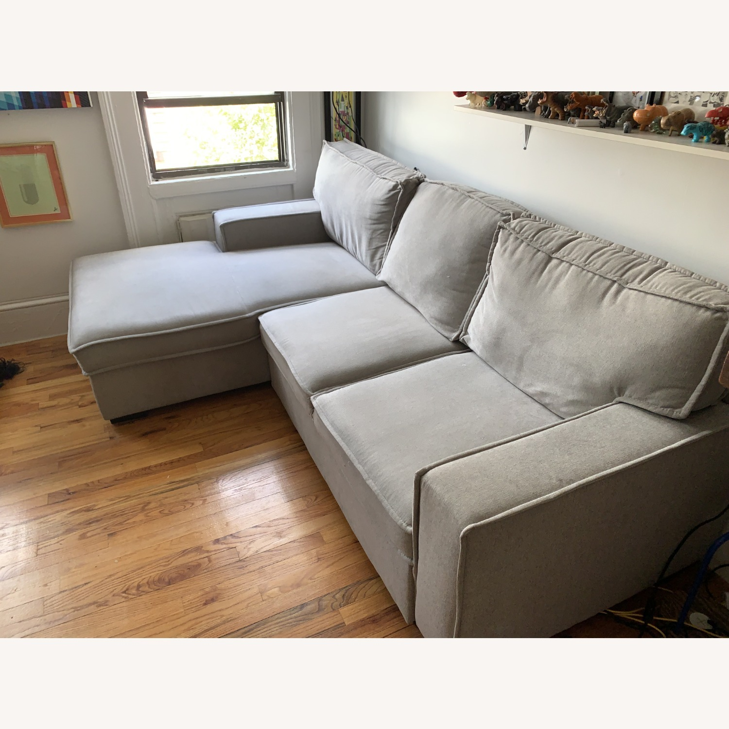 Bob's Track Arm Sectional with Pop-Up Sleeper - image-2