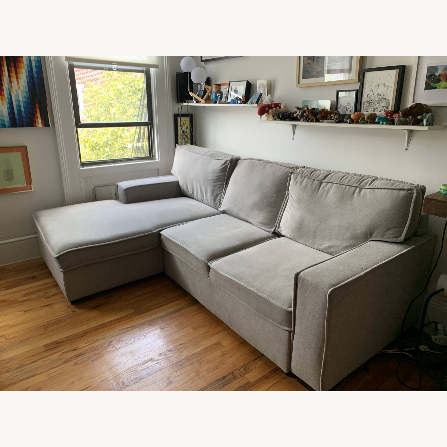 Bob's Track Arm Sectional with Pop-Up Sleeper - image-1