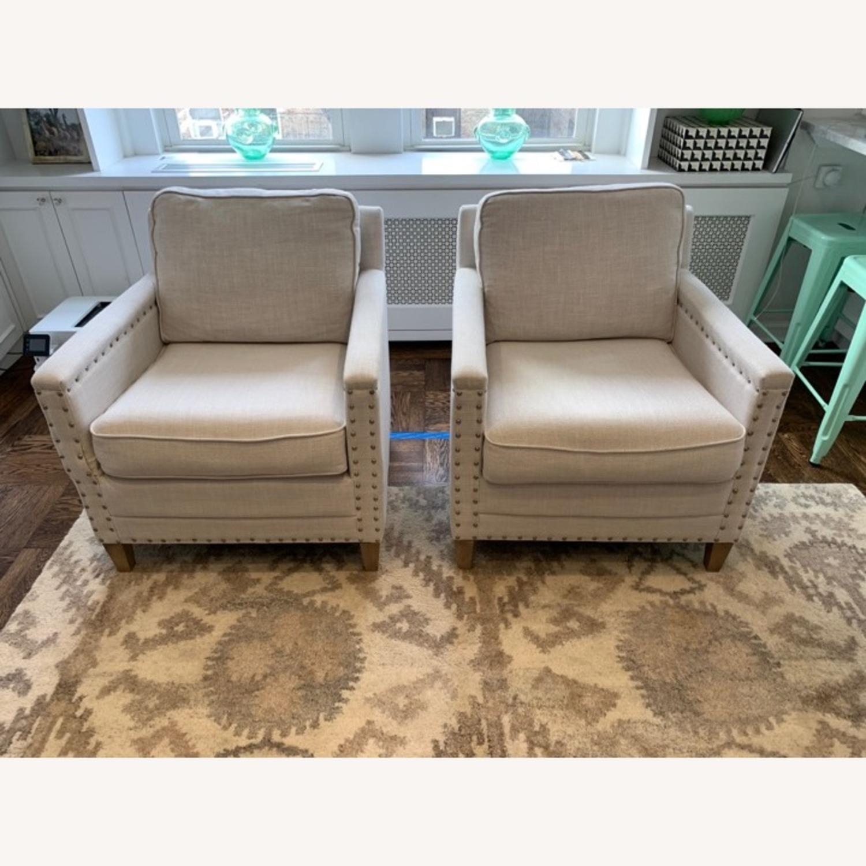 Pair of Joss & Main Armchairs - image-1