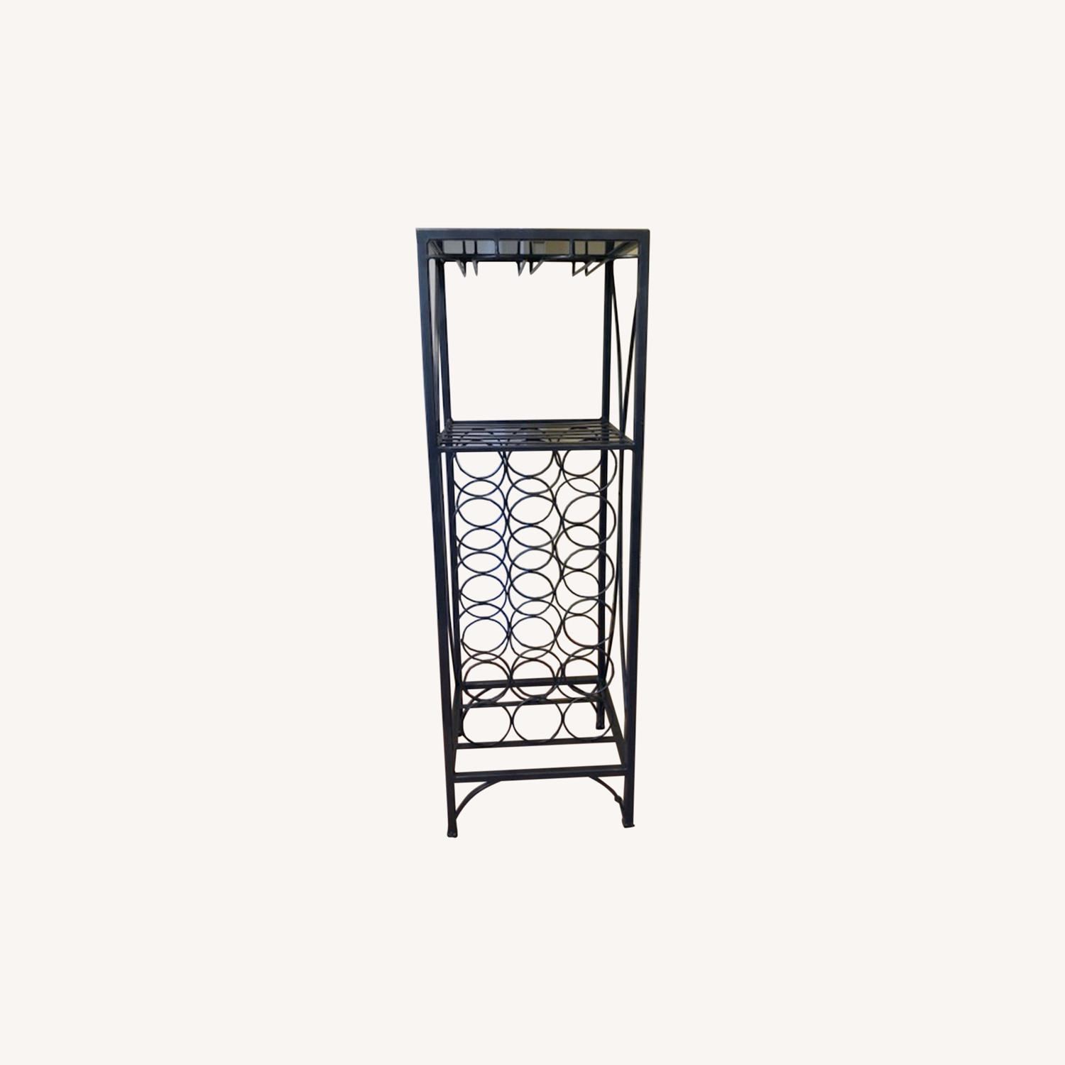 Pier 1 Metal Wine Rack - image-0