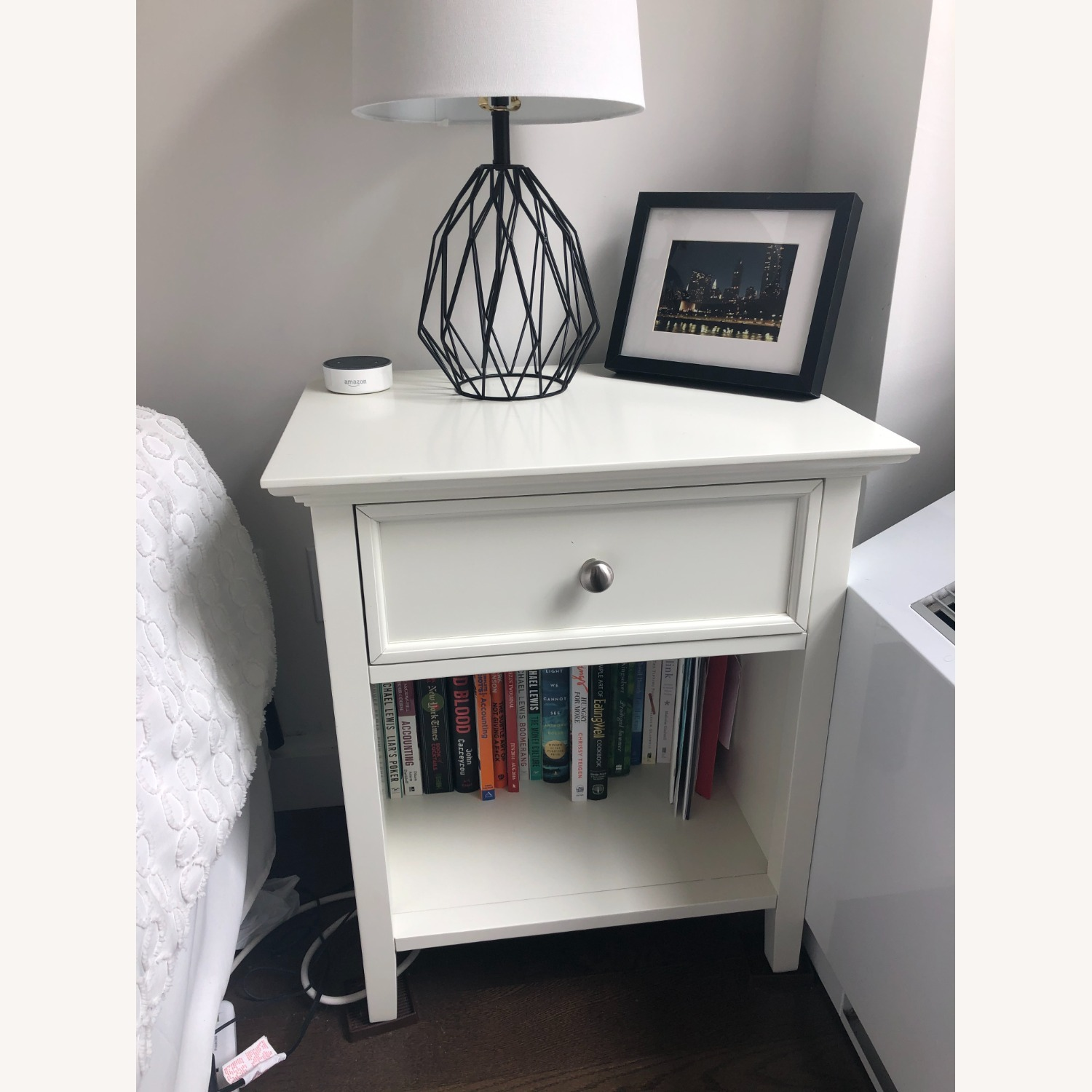 Mealey's Furniture White Wood End Table set (2) - image-2