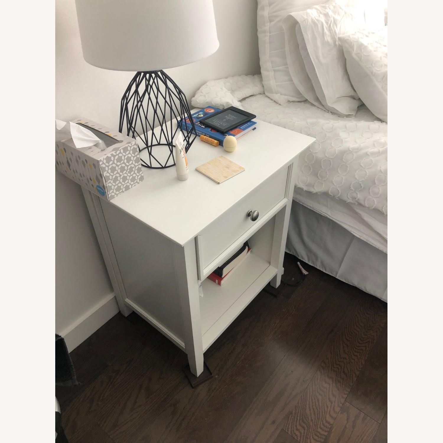 Mealey's Furniture White Wood End Table set (2) - image-4