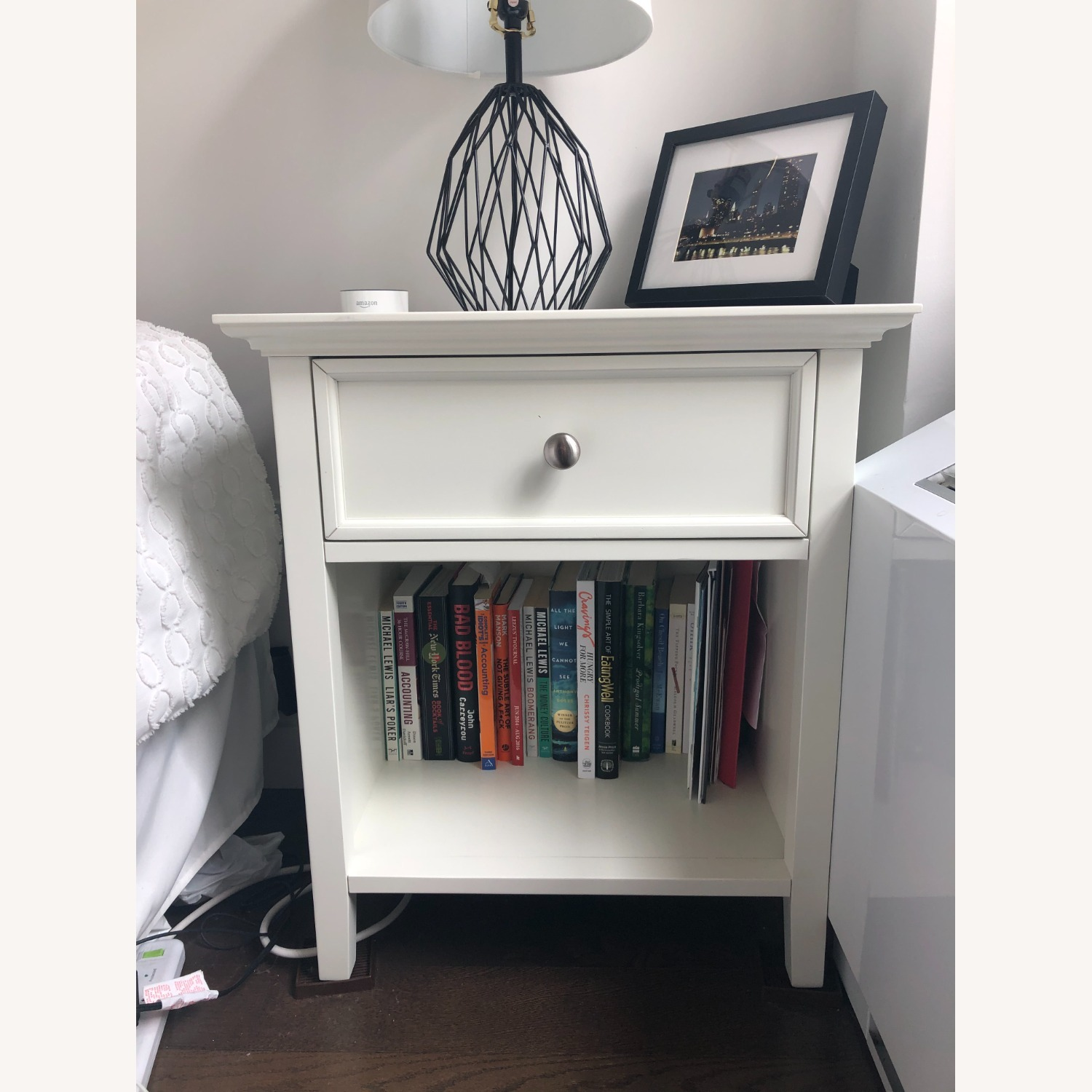 Mealey's Furniture White Wood End Table set (2) - image-1