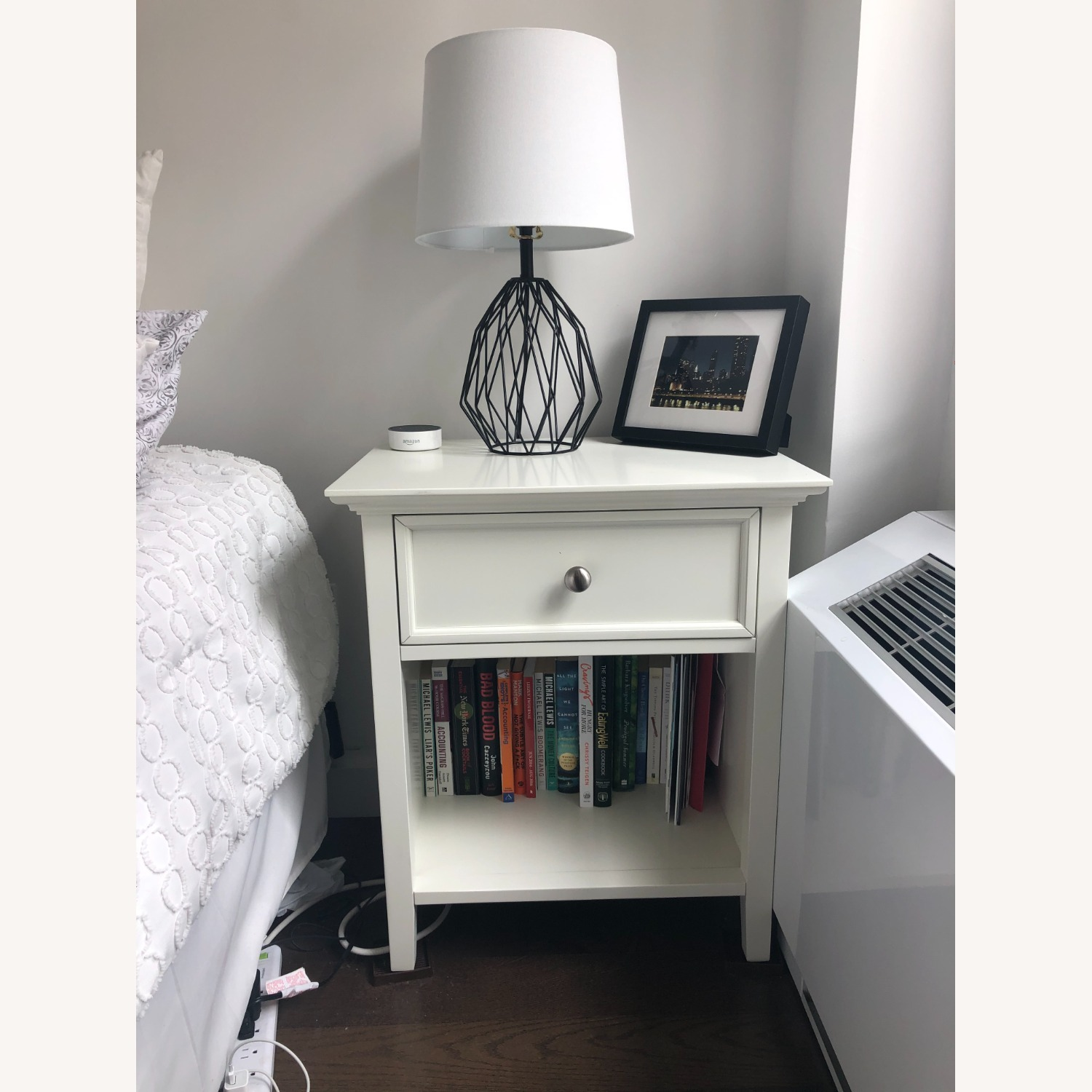 Mealey's Furniture White Wood End Table set (2) - image-3