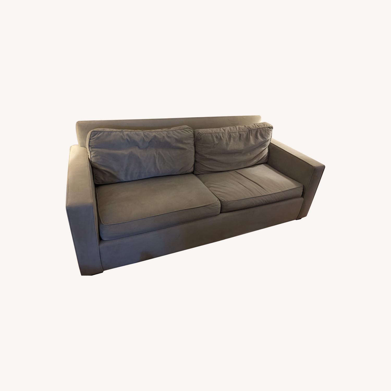 Pottery Barn Sleeper Sofa - Grey - image-0