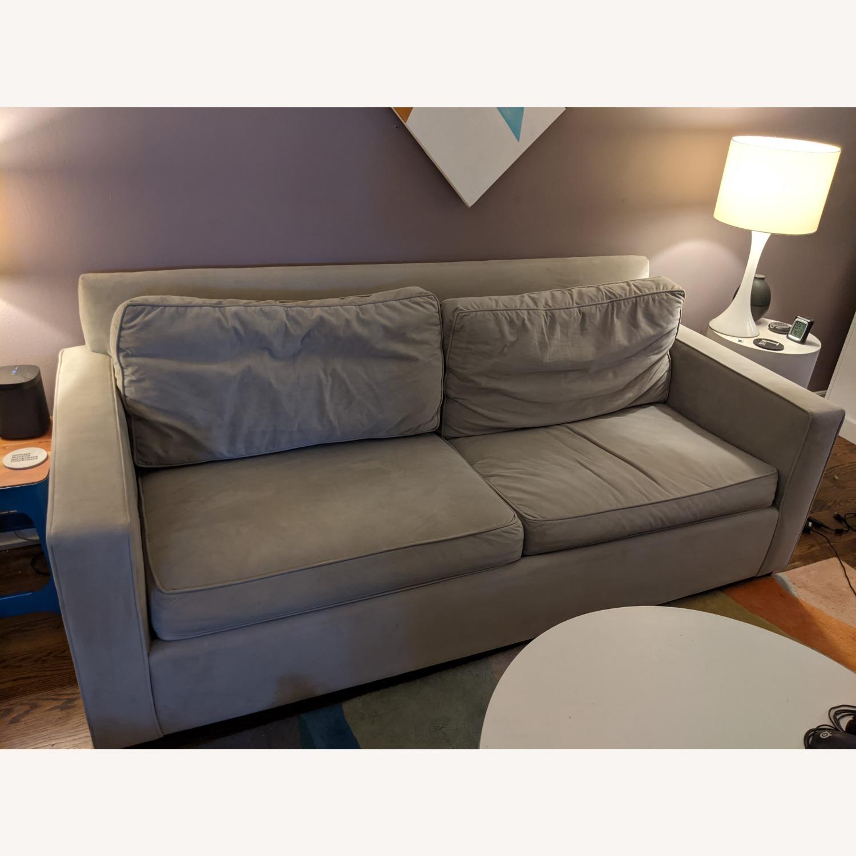 Pottery Barn Sleeper Sofa - Grey - image-1