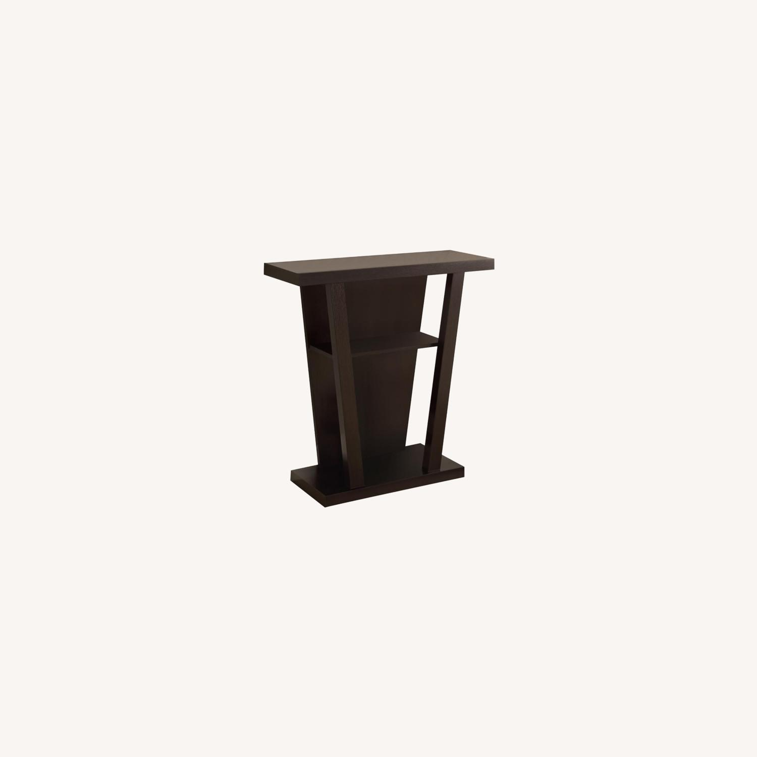 Console Table In Cappuccino W/ 2-Shelves Storage - image-5